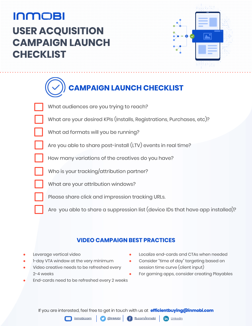 The Ultimate Mobile User Acquisition Checklist